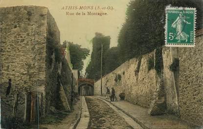 """CPA FRANCE 91 """" Athis Mons, Rue de la Montagne"""""""