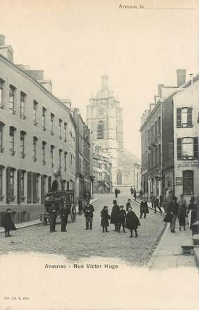 """CPA FRANCE 62 """"Avesnes, rue Victor Hugo"""""""