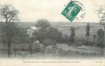 """CPA FRANCE 91 """"Brunoy, Moulin de Rochopt et Route d'Epinay sous Sénard"""""""