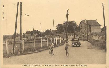 "CPA FRANCE 91 "" Saintry, Route venant de Morsang"""