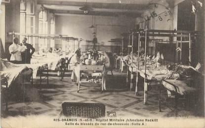 """CPA FRANCE 91 """" Ris Orangis,La salle des Blessés de l' Hôpital Militaire Johnstone Reckitt"""""""