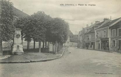 """CPA FRANCE 91 """"Draveil, Place de l'église"""""""