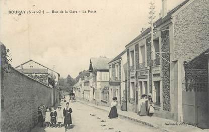 """CPA FRANCE 91 """"Bouray, Rue de la Gare, La Poste"""""""