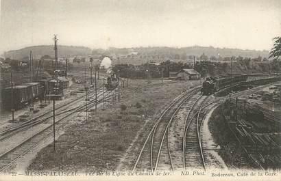 """CPA FRANCE 91 """"Massy Palaiseau, Vue sur la ligne du chemin de fer"""" / TRAINS"""