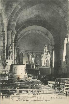 """CPA FRANCE 16 """"Etagnac, intérieur de l'Eglise"""""""