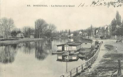 """CPA FRANCE 78 """" Bougival, La Seine et le quai"""""""