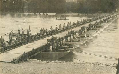 "CARTE PHOTO MILITAIRE ""Pontonniers"""