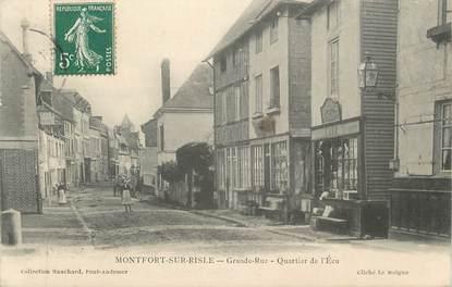 """CPA FRANCE 27 """" Montfort sur Risle, Quartier de l'écu"""""""