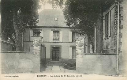 """CPA FRANCE 72 """"Fresnay, la Maison de M. Langlet, notaire"""""""
