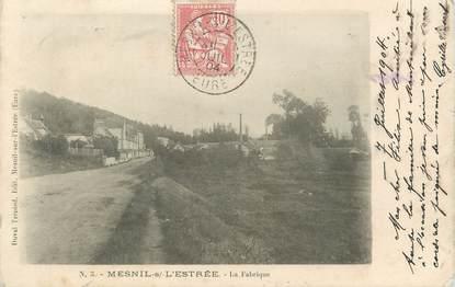 """CPA FRANCE 27 """" Mesnil sur l'Estrée, La fabrique"""""""