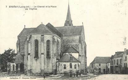"""CPA FRANCE 44 """" Erbray, Le Chevet et la Place de l'Eglise"""""""