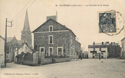"""CPA FRANCE 44 """" Couëron, Le clocher et la Poste"""""""