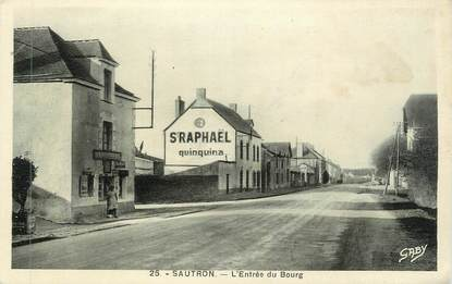 """CPA FRANCE 44 """" Sautron, L'entrée du bourg"""""""