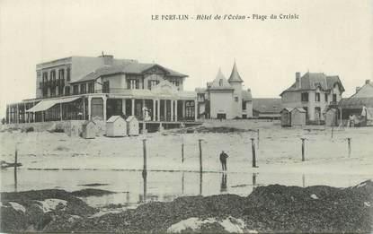 """CPA FRANCE 44 """" Le Port Lin, Hôtel de l'Océan, Plage du Croisic"""""""