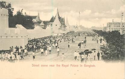 "CPA THAILANDE / SIAM ""Bangkok, scène de rue près du Palais royal"""