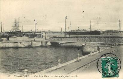 """CPA FRANCE 59 """"Dunkerque, Bassin Freycinet"""""""
