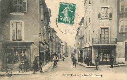 "CPA FRANCE 26 ""Crest, Rue du Bourg"""