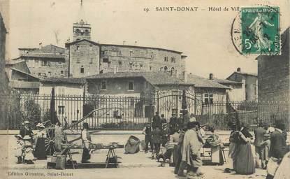 """CPA FRANCE 26 """"St Donat, Hôtel de Ville"""""""