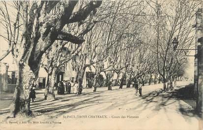 """CPA FRANCE 26 """"St Paul Trois Châteaux, Cours des Platanes"""""""