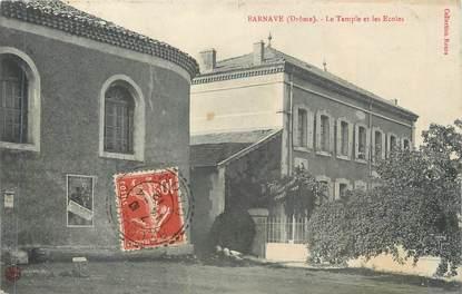 """CPA FRANCE 26 """" Barnave, Le temple et les écoles"""""""