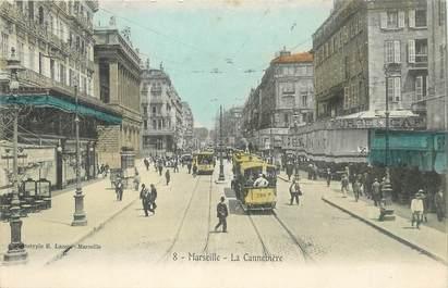 """/ CPA FRANCE 13 """"Marseille, La Cannebière"""""""