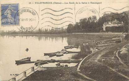 """CPA FRANCE 69 """" Villefranche sur Saône, Les bords de la Saône à Beauregard"""""""