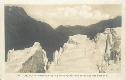"""CPA FRANCE 74 """" Chamonix - Mont Blanc, Séracs au Plateau supérieur des Bossons"""""""