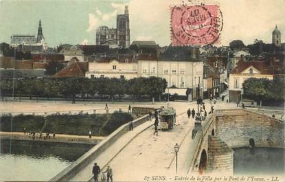 """CPA FRANCE 89 """" Sens, Entrée de la ville par le Pont d'Yonne"""""""