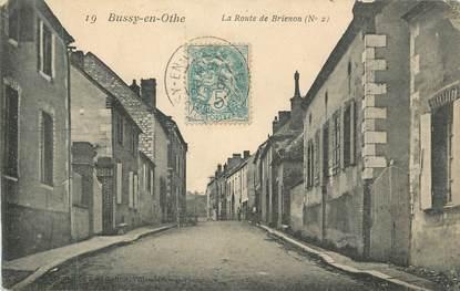 """CPA FRANCE 89 """" Bussy en Othe, La route de Brienon"""""""