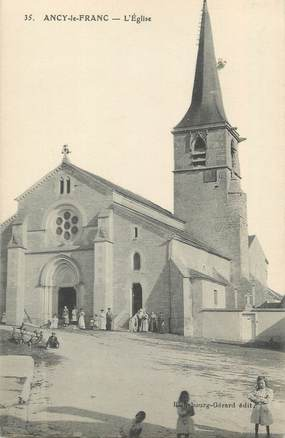 """CPA FRANCE 89 """" Ancy le Franc, L'église"""""""