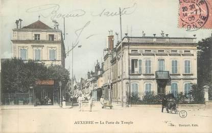 """CPA FRANCE 89 """" Auxerre, La porte du temple"""""""