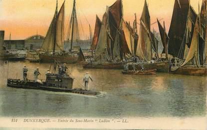 """CPA FRANCE 59 """"Dunkerque, entrée du sous marin Ludion"""""""