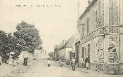 """CPA FRANCE 89 """" Courlon, La Poste et la Rue des Préaux"""""""