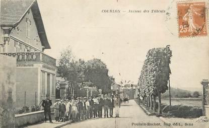 """CPA FRANCE 89 """" Courlon, Avenue des Tilleuls"""""""