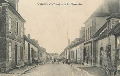 "CPA FRANCE 89 "" Courgenay, La Rue Traversière"""