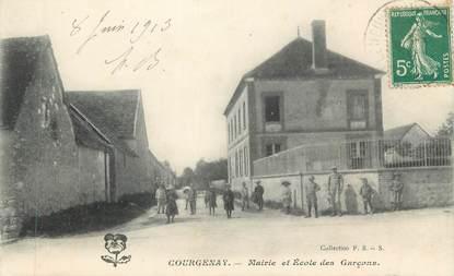 """CPA FRANCE 89 """" Courgenay, Mairie et Ecole des garçons"""""""