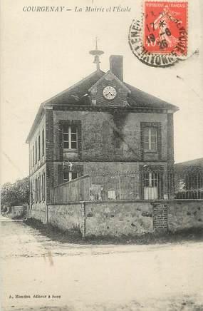 """CPA FRANCE 89 """" Courgenay, La Mairie et l'Ecole"""""""