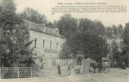 """CPA FRANCE 89 """" Cézy, Hôtel et Café de la Réunion"""""""
