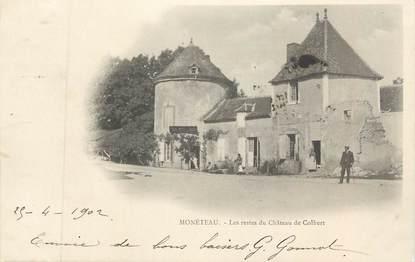 """CPA FRANCE 89 """" Moneteau, Les restes du Château de Colbert"""""""