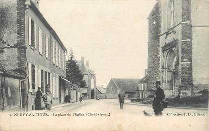 """CPA FRANCE 89 """" Neuvy Sautour, La Place de l'Eglise"""""""