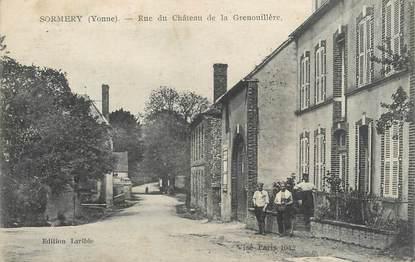 """CPA FRANCE 89 """" Sormery, Rue du Château de la Grenouillère"""""""