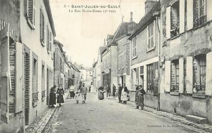 """CPA FRANCE 89 """" St Julien du Sault, La Rue Notre Dame"""""""