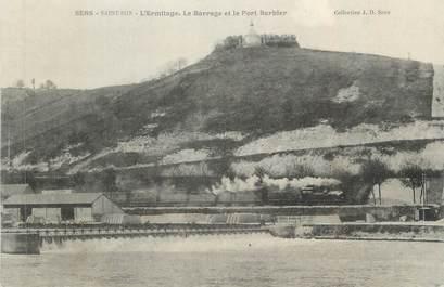 """CPA FRANCE 89 """" Sens, L'Ermitage, le barrage et le Port Barbier"""""""