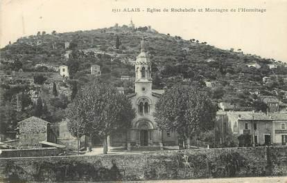 """/ CPA FRANCE 30 """"Alais, église de Rochebelle et Montagne de l'hermitage"""""""