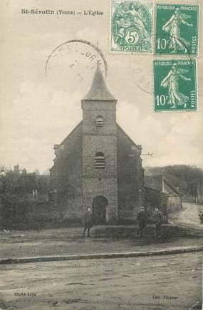 "CPA FRANCE 89 "" St Sérotin, L'église"""