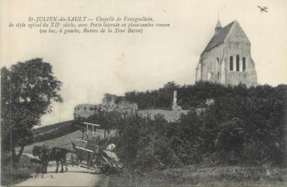 """CPA FRANCE 89 """" St Julien du Sault, La Chapelle de Vauxguillain"""""""