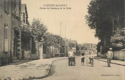 """CPA FRANCE 89 """" St Julien du Sault, Entrée du Faubourg de la Croix"""""""
