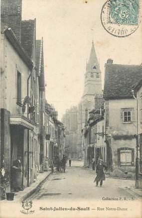 """CPA FRANCE 89 """" St Julien du Sault, Rue Notre Dame"""""""