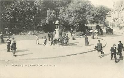 """/ CPA FRANCE 60 """"Beauvais, place de la gare"""""""