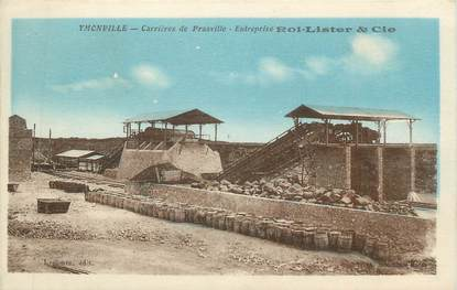 """CPA FRANCE 89 """" Ymonville, Carrières de Prasville, Entreprise Roi Lister et Cie"""""""